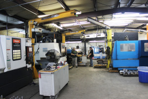 a corner of the machine shop